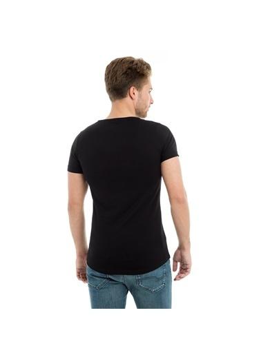 Manche Tişört Siyah